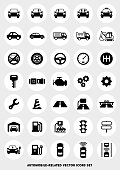 car-related icon set