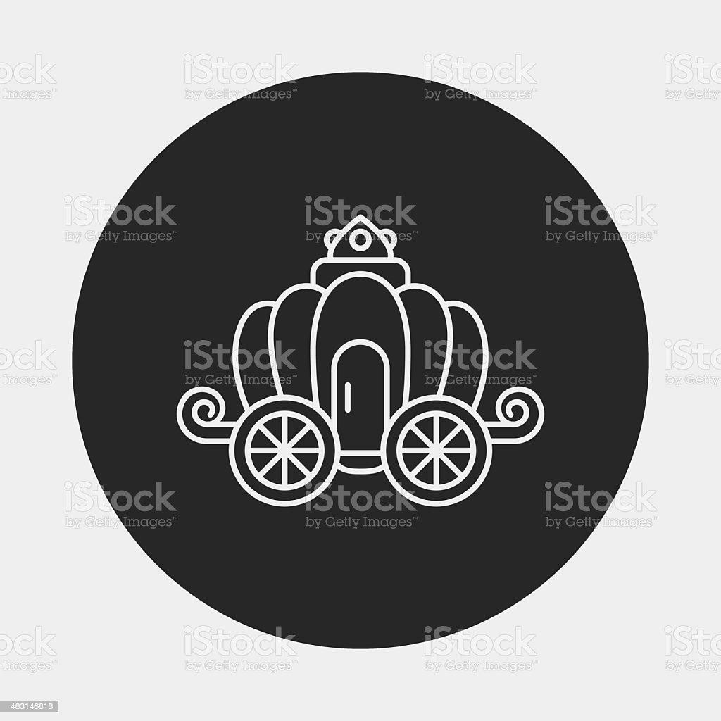 carriage Linie-icon – Vektorgrafik