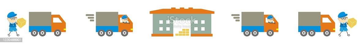 641289780 istock photo carrier services, tracking of shipments, set of vector icons 1220488901