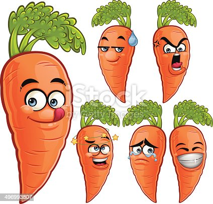 istock Carrot Cartoon Set A 496993807