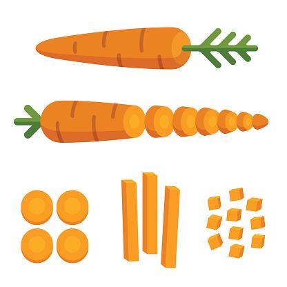 Carrot cuts illustration