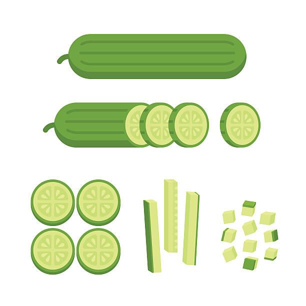 stockillustraties, clipart, cartoons en iconen met carrot cuts illustration - komkommer