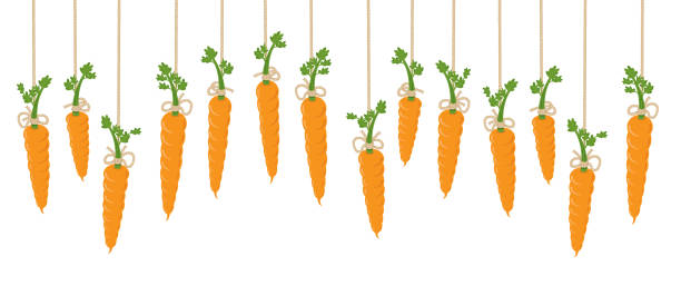 illustrazioni stock, clip art, cartoni animati e icone di tendenza di carrot on a string - agitare una carota davanti a qualcuno