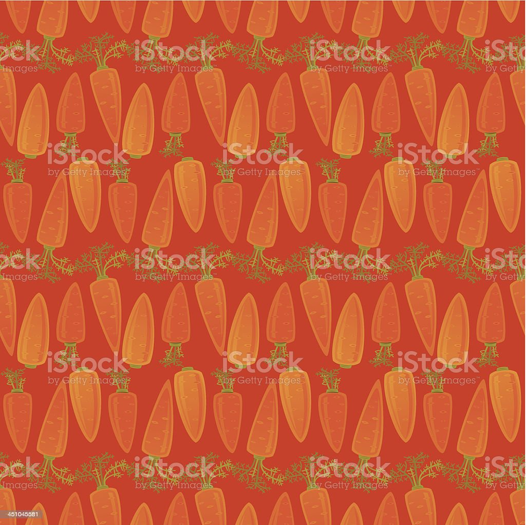 Carrot Pattern royalty-free stock vector art