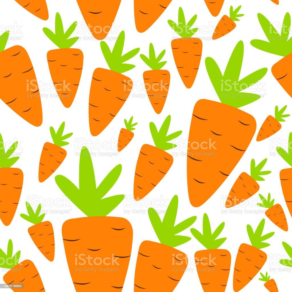 Carrot Seamless Pattern Background Vector Illustration royalty-free stock vector art