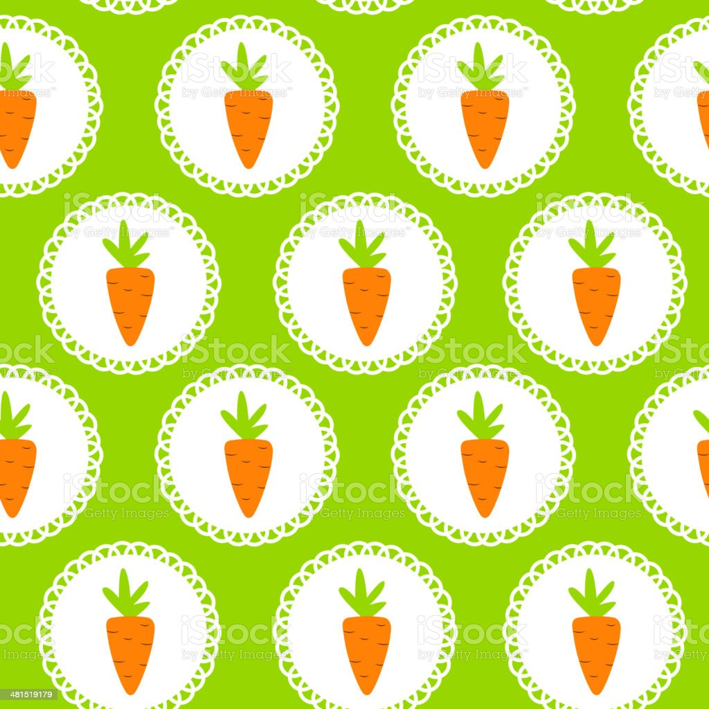 Carrot Seamless Pattern Background Vector Illustration royalty-free carrot seamless pattern background vector illustration stock vector art & more images of abstract