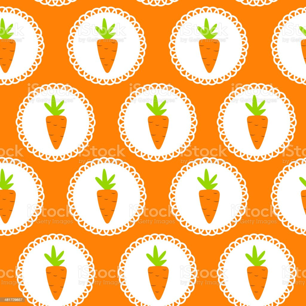 Carrot Seamless Pattern Background Vector Illustration royalty-free stock vector art