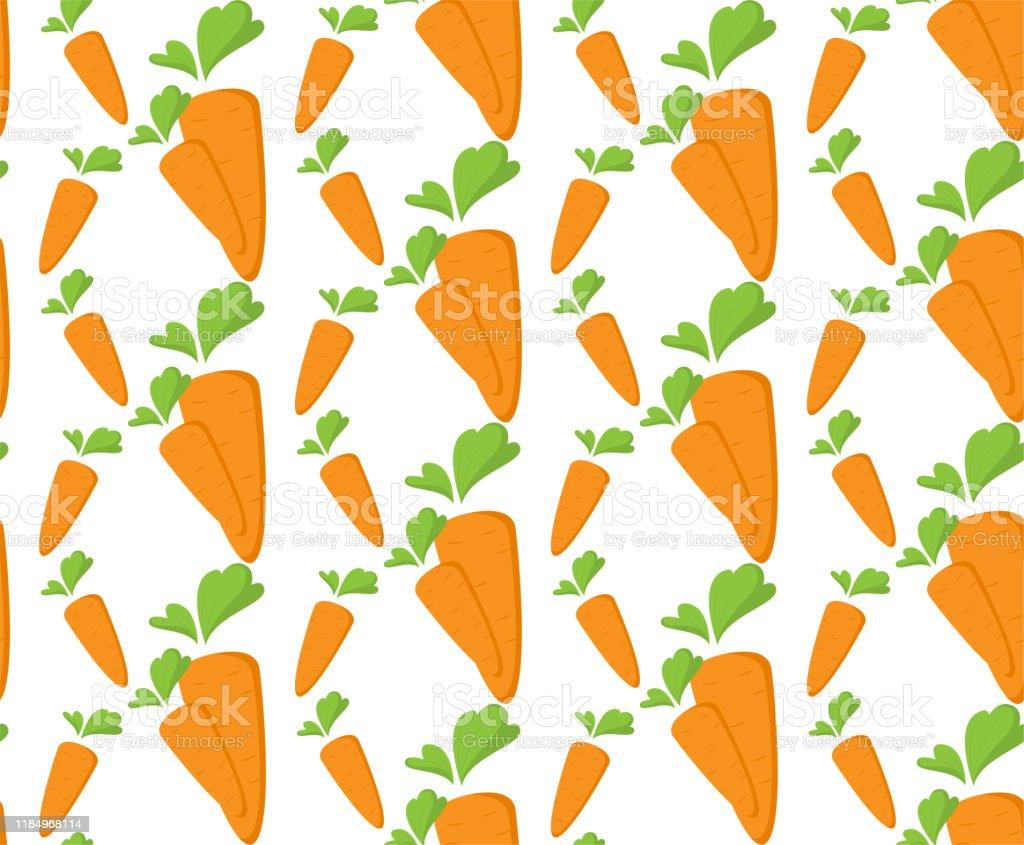 平らなオレンジ野菜漫画の食品イラストとニンジンシームレスパターントレンディな背景の装飾メニュー壁紙100ビーガンやベジタリアンテキスタイルデザインイースターエ にんじんスティックのベクターアート素材や画像を多数ご用意 Istock