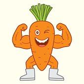 Carrot bodybuilder character