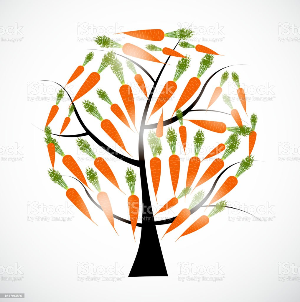 carrot tree vector illustration isolated on white background royalty-free stock vector art