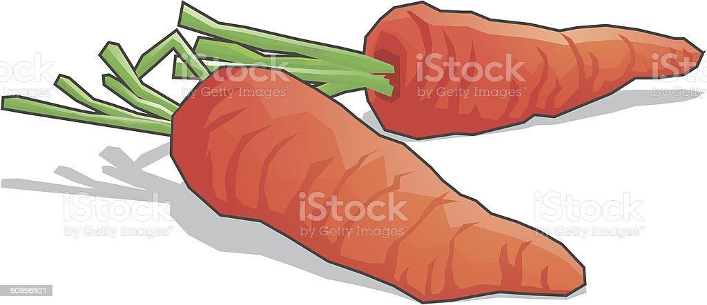 Carrots Vegetable Vector icons vector art illustration