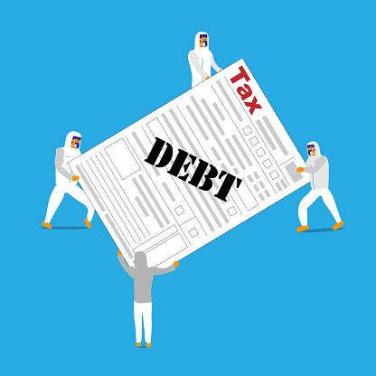 Carrying tax debt