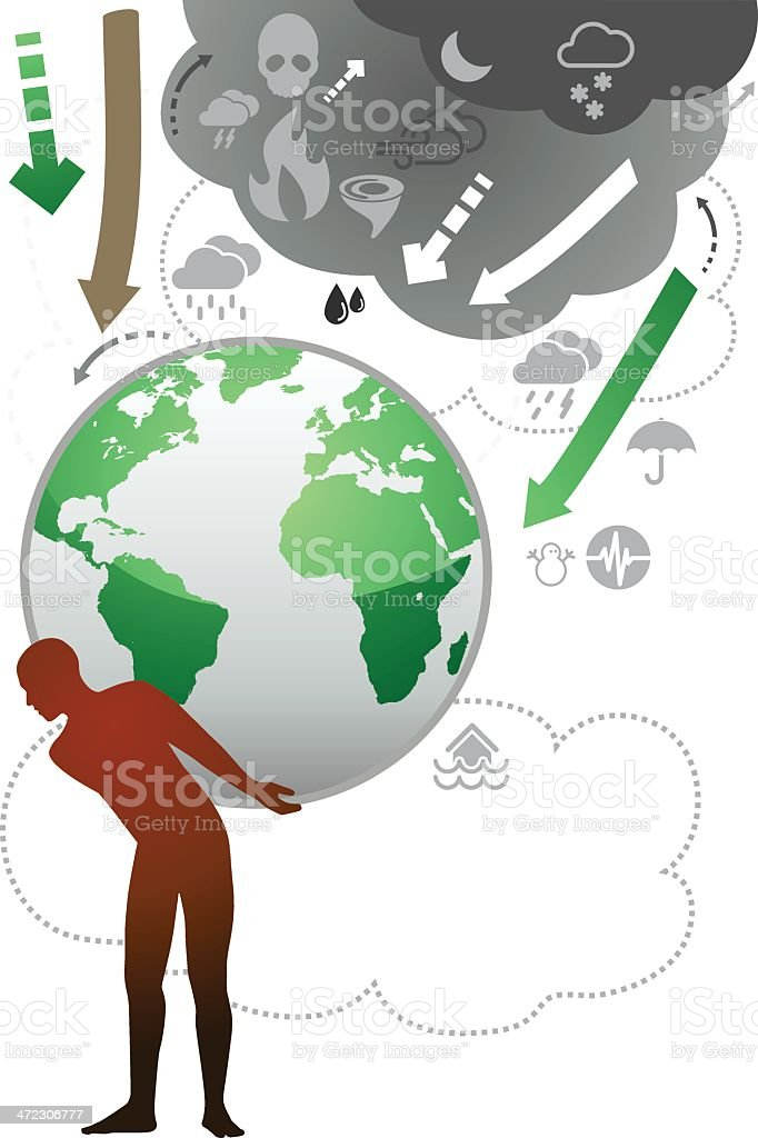 Carrying The World royalty-free stock vector art