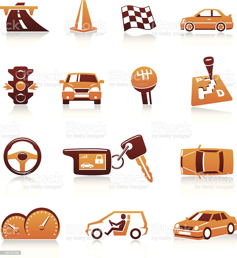 Cars and automotive themes. Vector icons vector art illustration