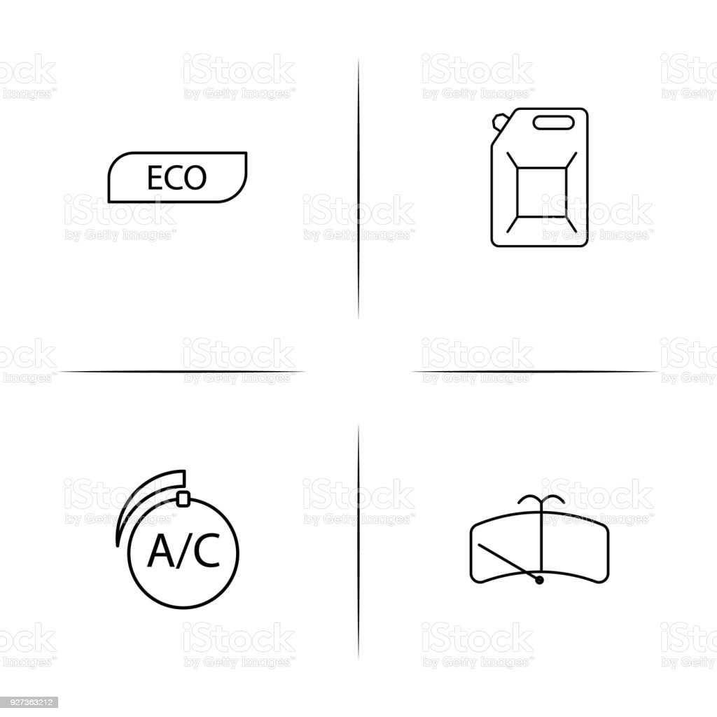 Cars And Transportation linear simple vector icon set.Outline icons Cars And Transportation linear simple vector icon set.Outline icons Air Conditioner stock vector