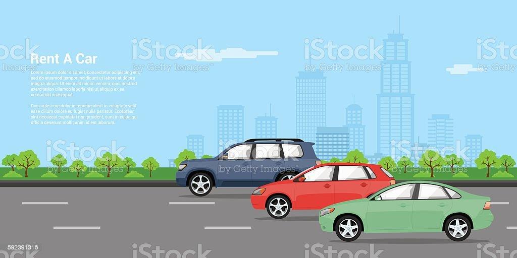 cars for rent – Vektorgrafik