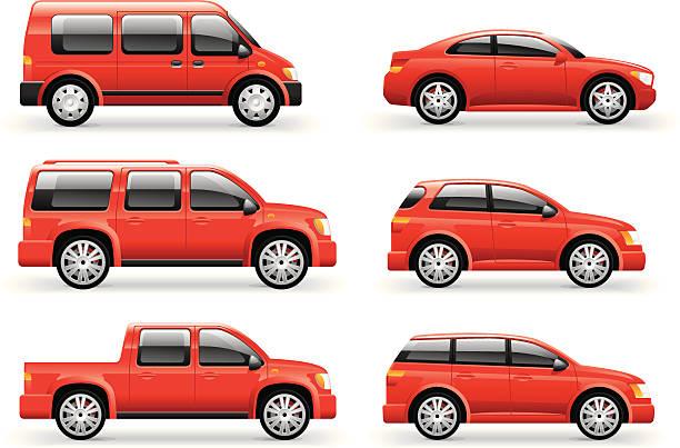 Cars Icon Set Cars Icon Set hatchback stock illustrations