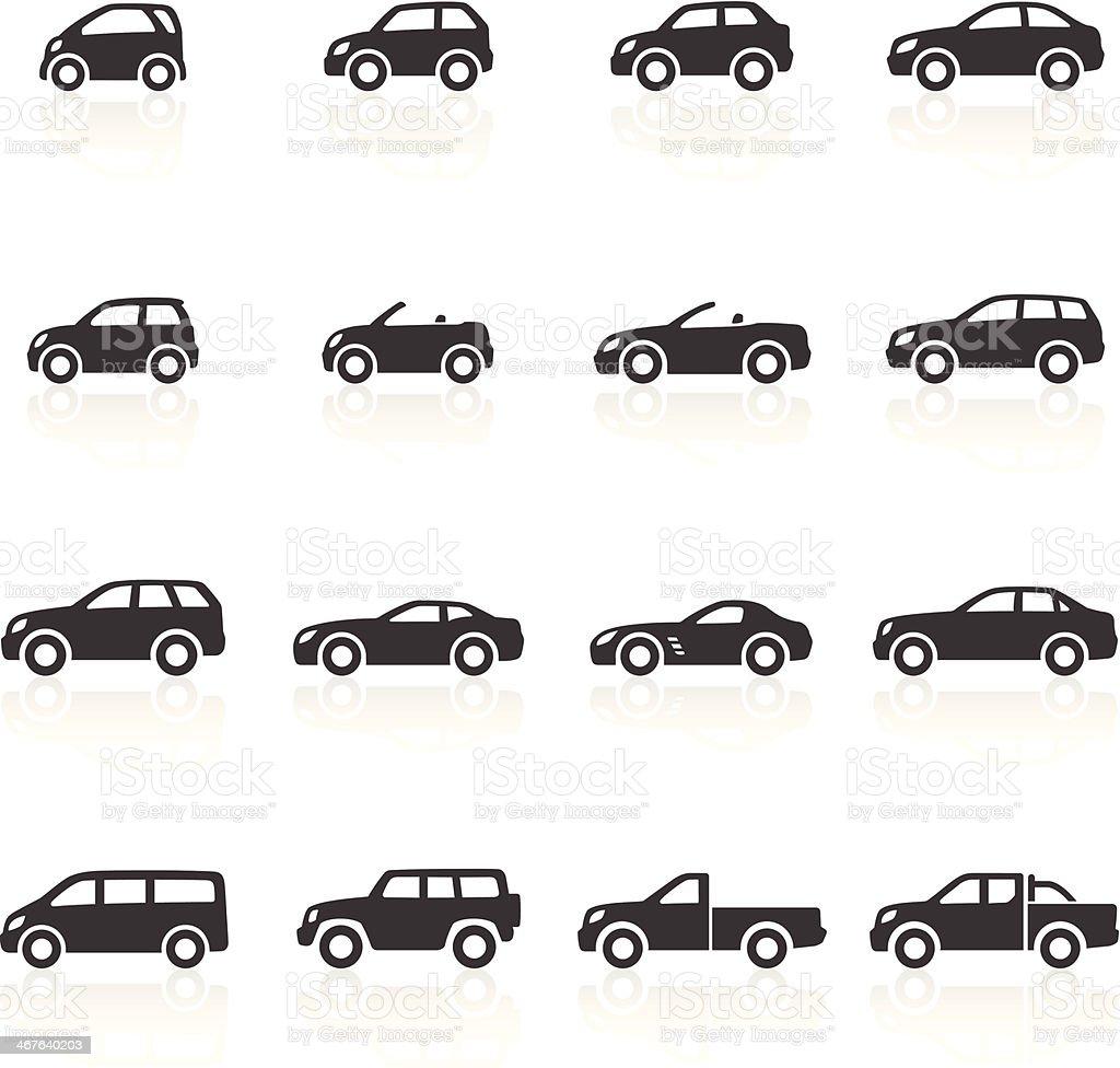 Icone di automobili - illustrazione arte vettoriale