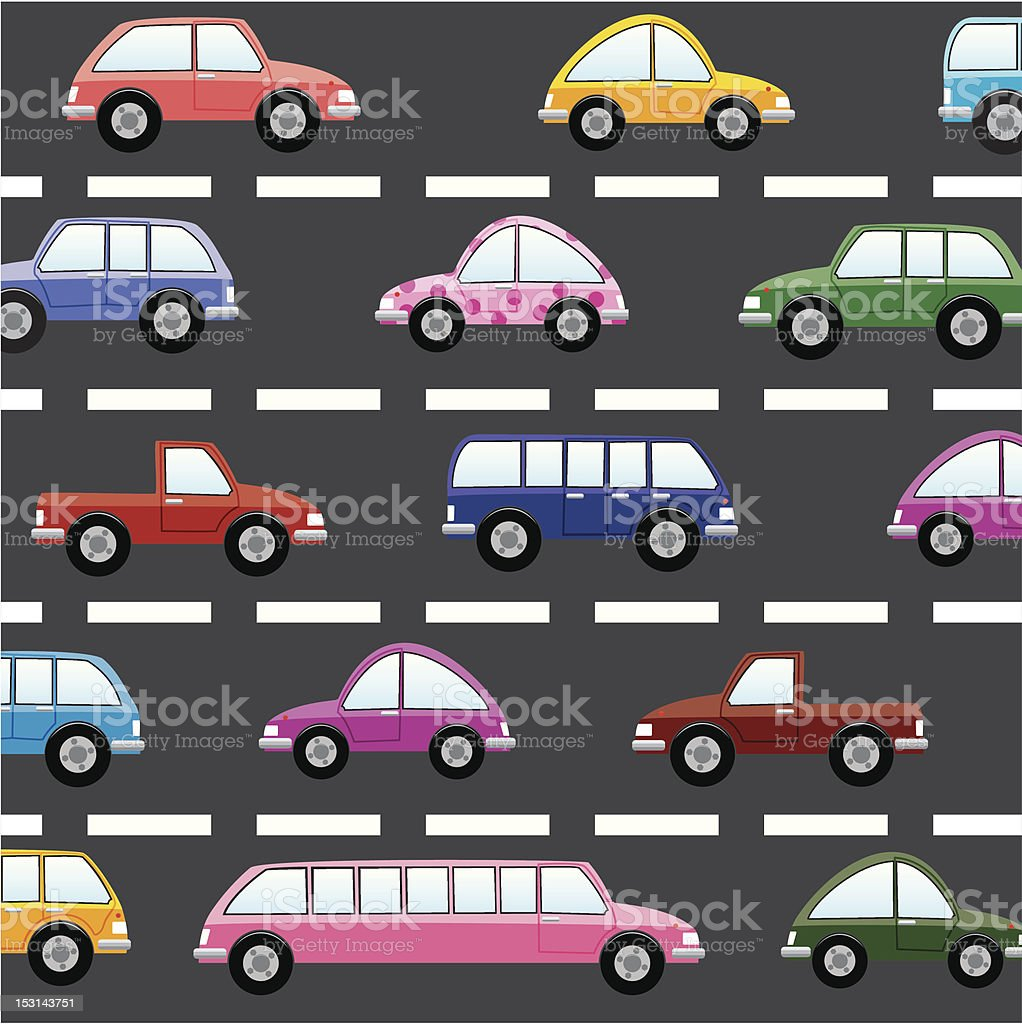 cars on the road royalty-free stock vector art