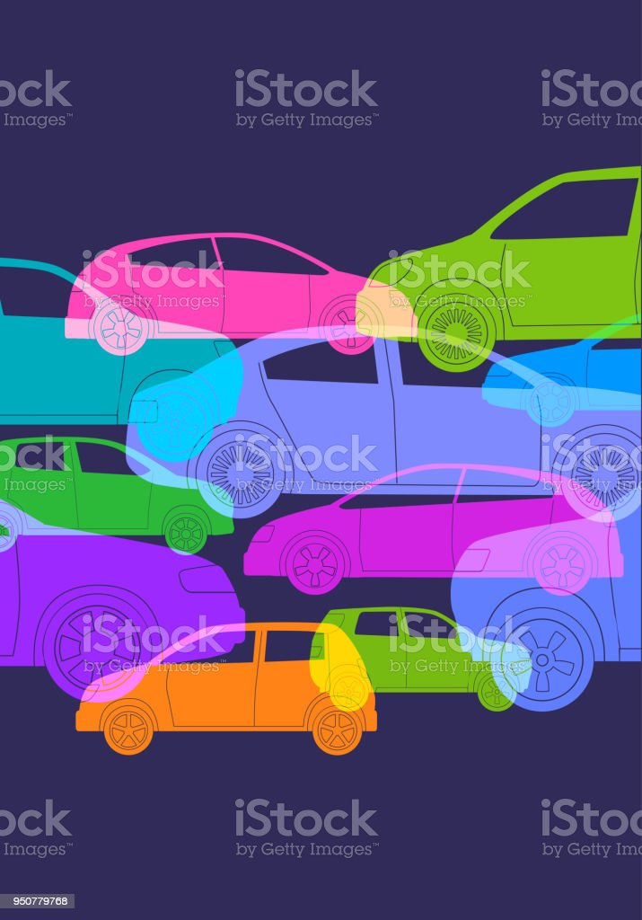 Voitures ou automobiles - Illustration vectorielle