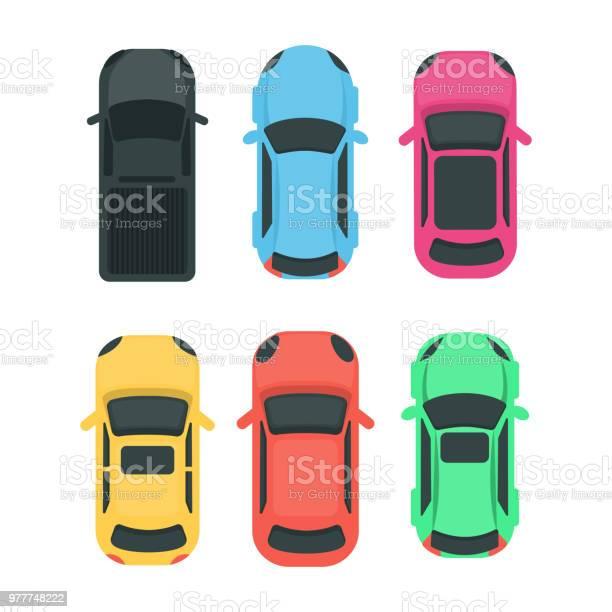 Cars top view vector id977748222?b=1&k=6&m=977748222&s=612x612&h= ge10z0egnnjjstdlafl4niy1ui52ixgzsn vn7r4gs=