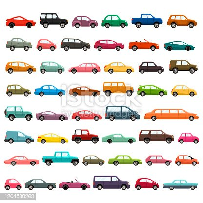 Car models illustration set