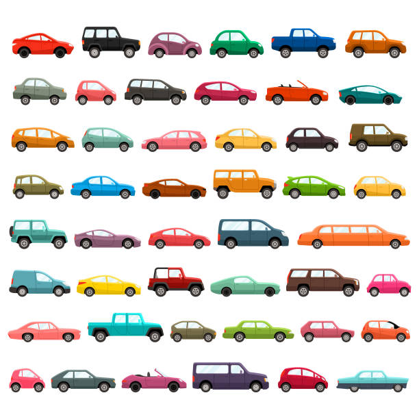 Cars vector icon set Car models illustration set land vehicle stock illustrations