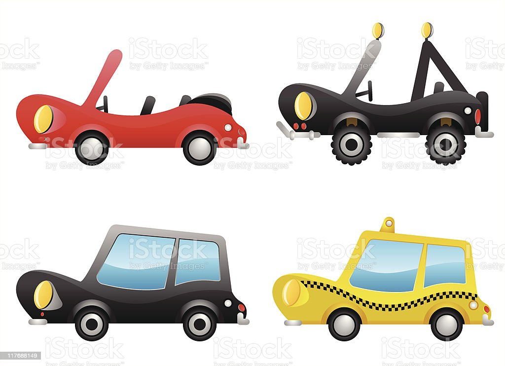 Cars (vector) royalty-free stock vector art