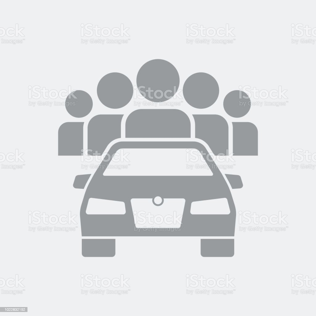 Icono de concepto de aplicación de Carsharing - ilustración de arte vectorial