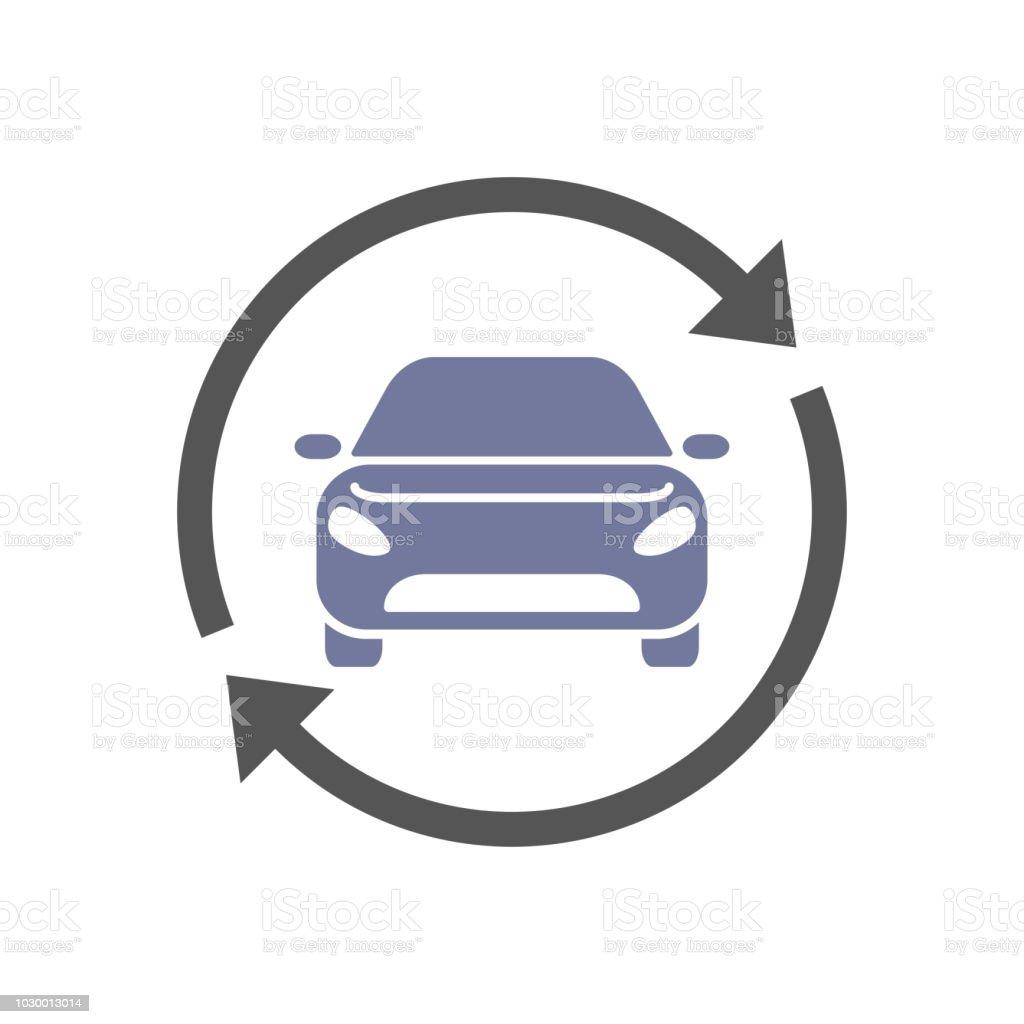 Carsharing, Mietwagen-Service-Vektor-Logo, Symbol. EPS 10 – Vektorgrafik