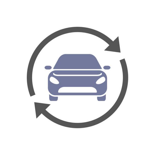 illustrations, cliparts, dessins animés et icônes de autopartage, location service vecteur le logo, icône. eps 10 - covoiturage