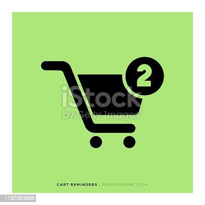 istock Cart Reminders Icon 1152383958