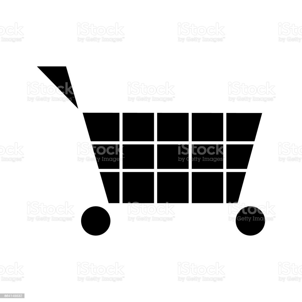cart shopping  icon, vector illustration, sign on isolated background royalty-free cart shopping icon vector illustration sign on isolated background stock vector art & more images of art
