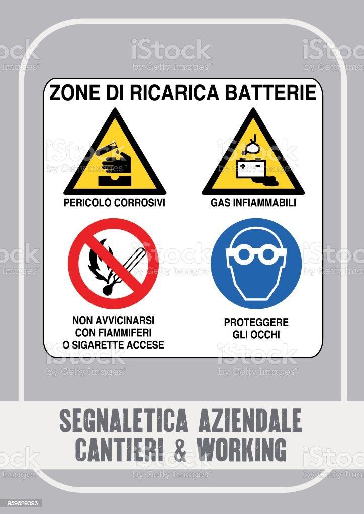 Cartelli Sicurezza, Pericolo, Aziendali & di Cantiere - arte vectorial de Alerta libre de derechos