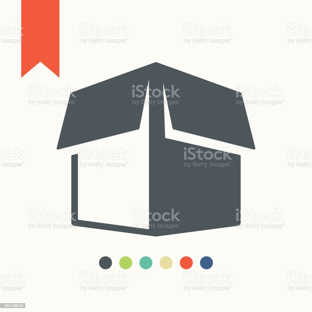 carton box icon vector art illustration