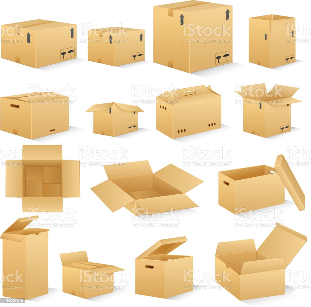 Carton Box vector art illustration