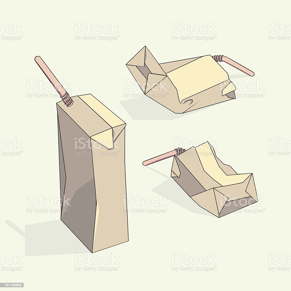 Carton for a drink royalty-free stock vector art