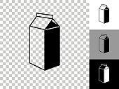 istock Carton Icon on Checkerboard Transparent Background 1225043367