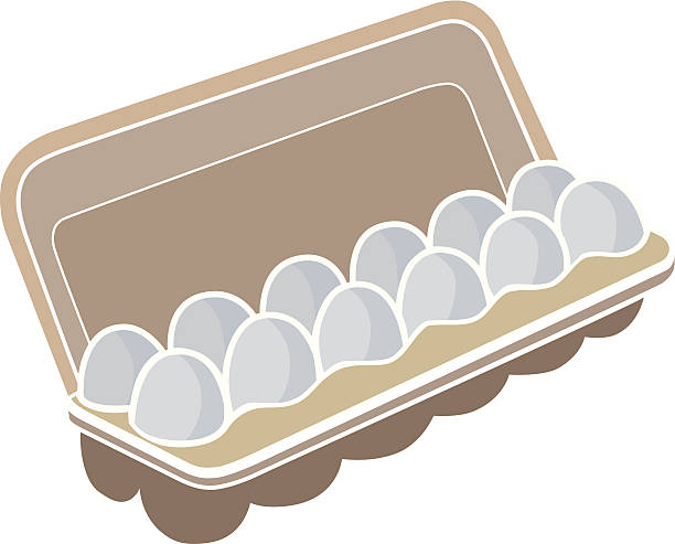 Royalty Free Egg Carton Clip Art, Vector Images ...