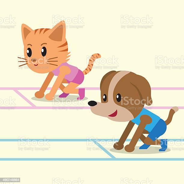 Cartoon a cat and a dog ready to run vector id490246664?b=1&k=6&m=490246664&s=612x612&h=ydehedkzmbci52ihcets1b4yvxeovryqavqtfeohk1y=