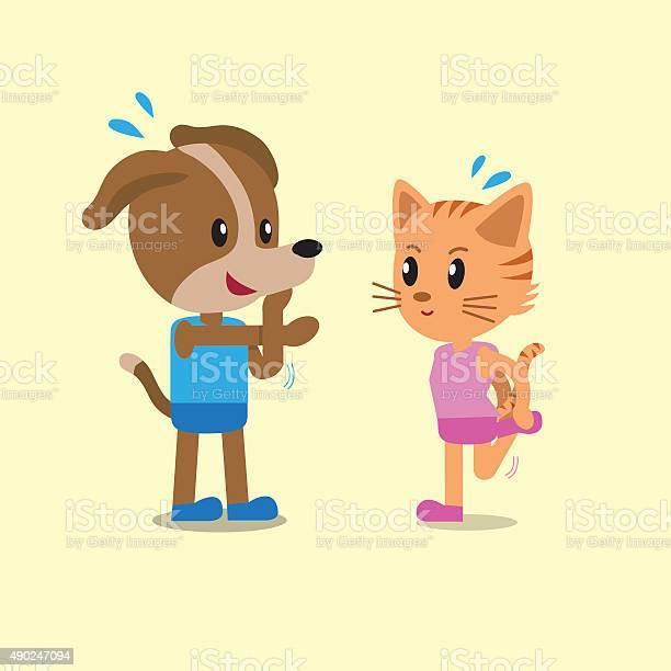 Cartoon a cat and a dog warm up vector id490247094?b=1&k=6&m=490247094&s=612x612&h=hflewokd4jw jbghkm4tdx9bd azwmjqhknou8tq 0m=