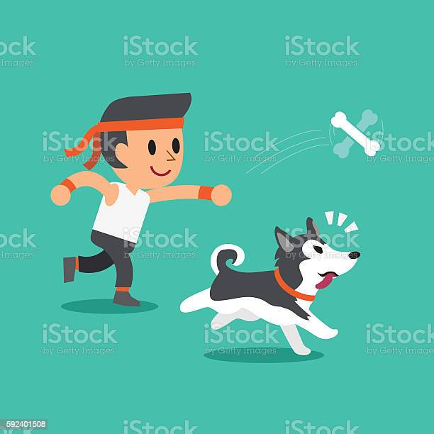 Cartoon a man playing with his siberian husky dog vector id592401508?b=1&k=6&m=592401508&s=612x612&h=xg8g91wvgw ivn6asp0ekdfyohdcfiarmgm5h8zgnfm=