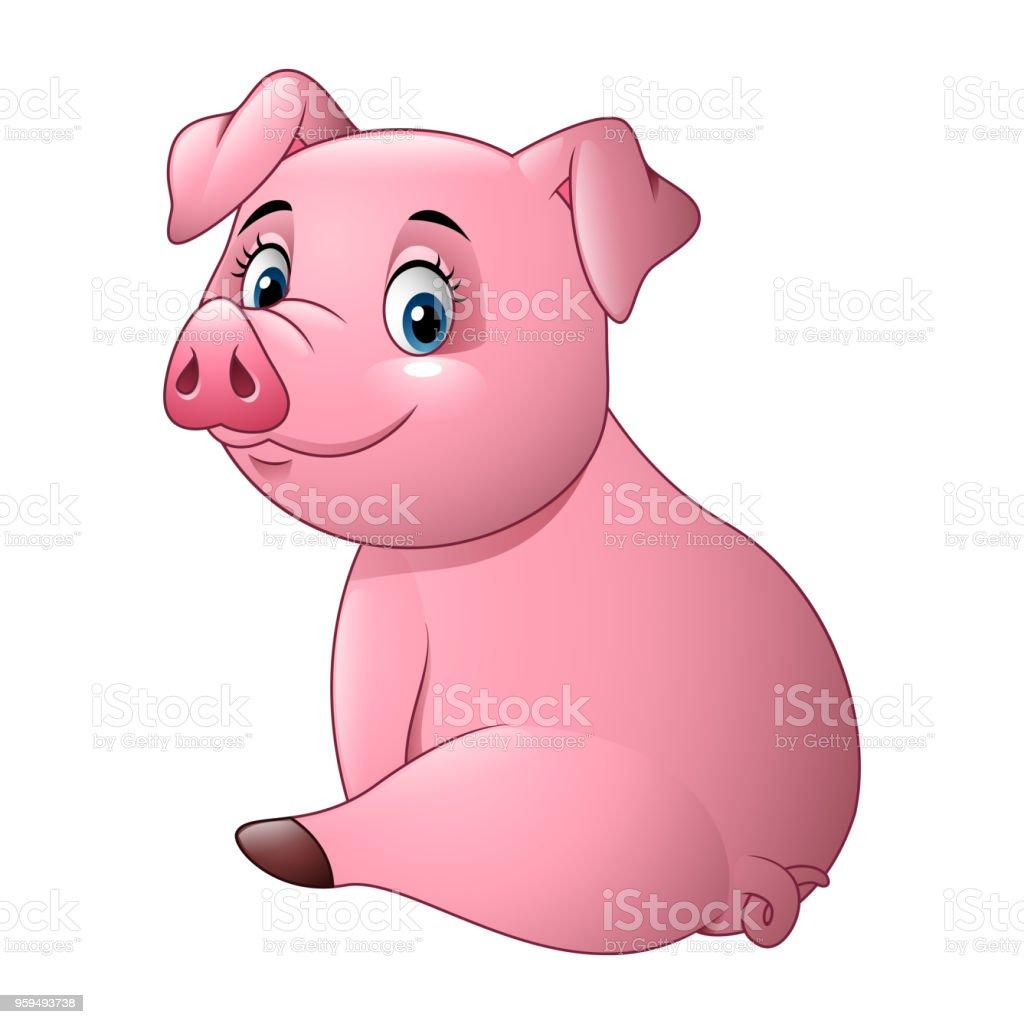Cochon Dessin dessin animé bébé adorable cochon – cliparts vectoriels et plus d