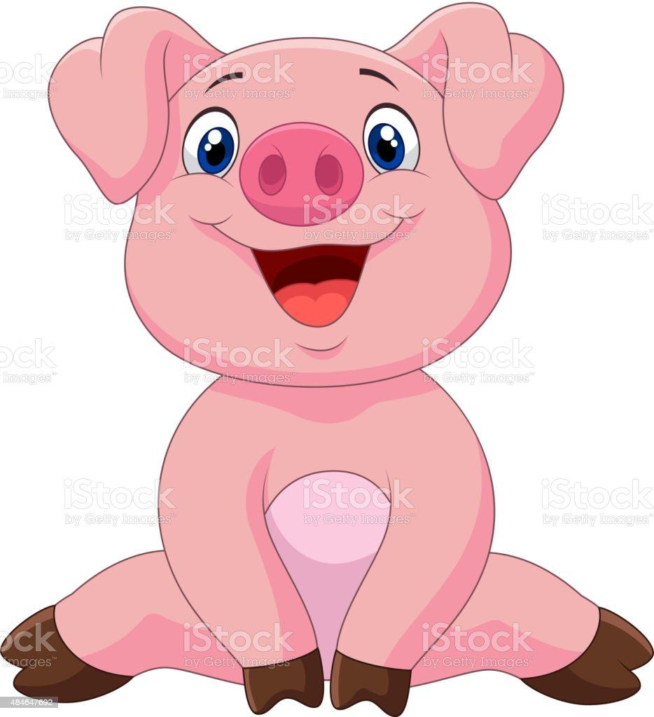 Top Cochon Dessin Animé Adorable Pour Bébé Illustration Vectorielle  YK05