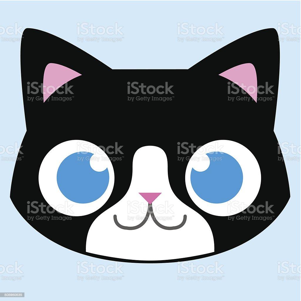 adorable t te de chat en dessin anim isol illustration cliparts vectoriels et plus d 39 images. Black Bedroom Furniture Sets. Home Design Ideas