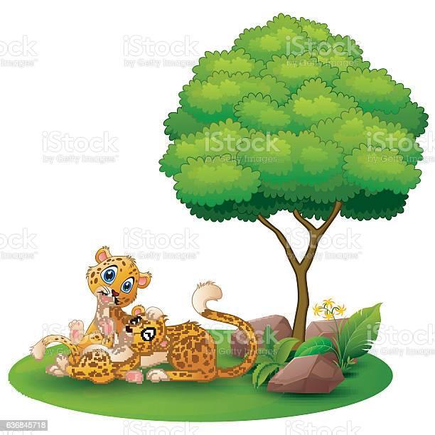 Cartoon adult cheetah with cub cheetah under a tree vector id636845718?b=1&k=6&m=636845718&s=612x612&h=fjdvrmwibp7md5d zi7wctpnzh0ecmpxji3rfasoia4=
