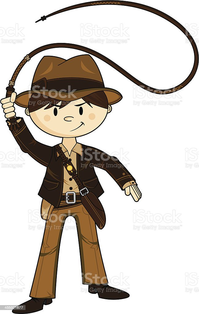 A cartoon adventurer with hat and whip royalty-free a cartoon adventurer with hat and whip stock vector art & more images of adventure