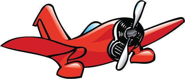 Comic Flugzeug – Vektorgrafik