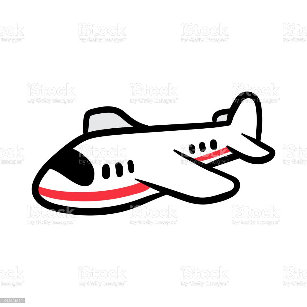 Cartoon Airplane Vector Illustration Stock Vector Art & More Images Of Aerospace Industry