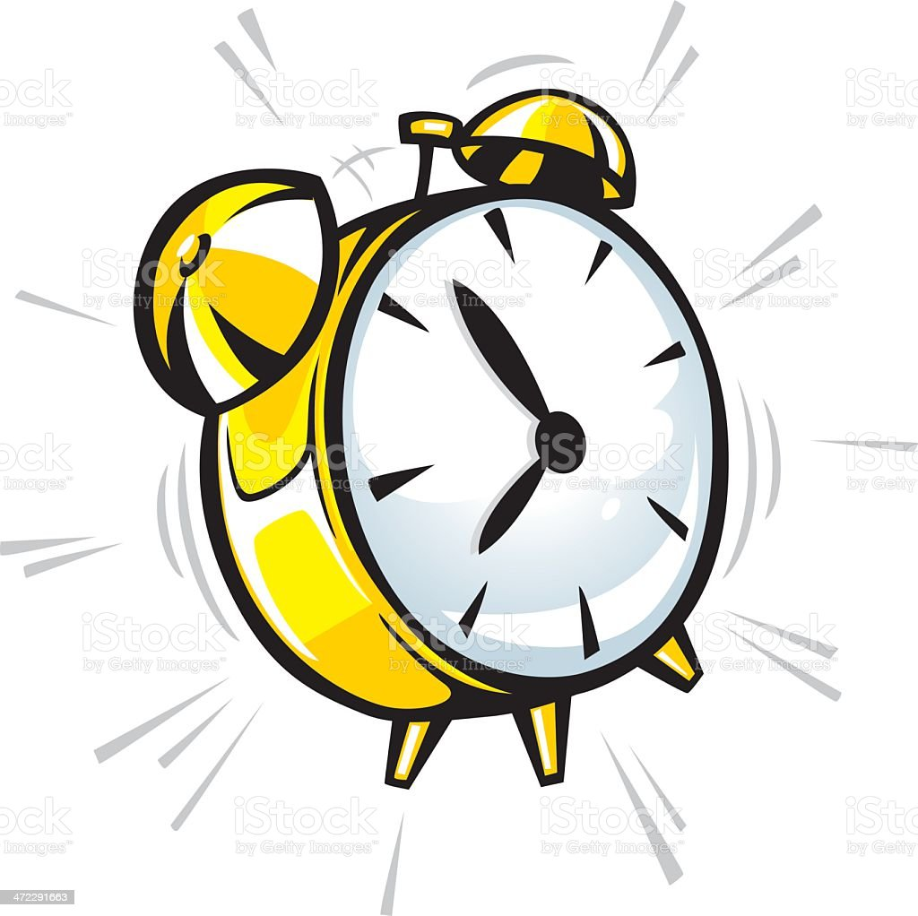 cartoon alarm clock vector art illustration